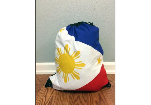 Philippine Flag Drawstring Bag