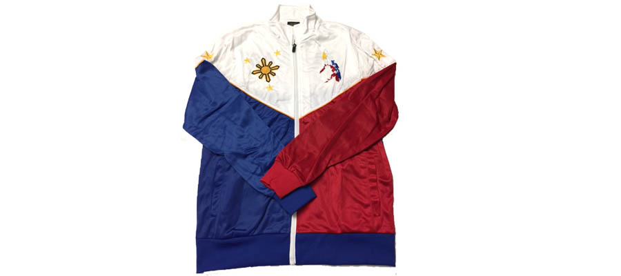 Philippine Jacket With Embroidered Color Map