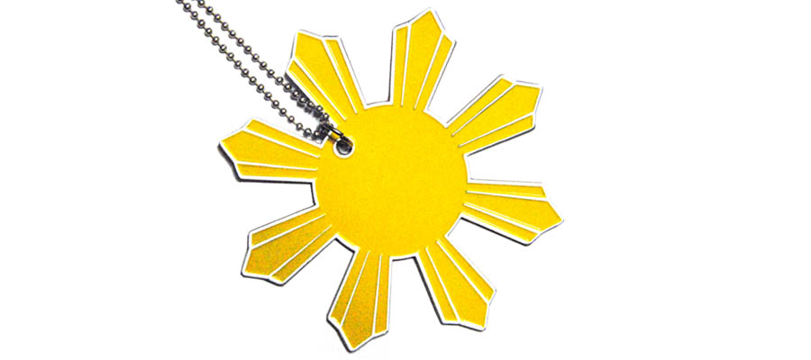 Sun Pendant With Ball Chain