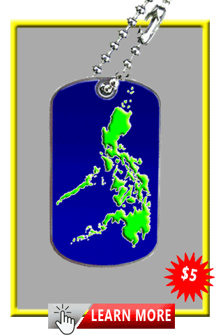 Philippine Map Country Dogtag