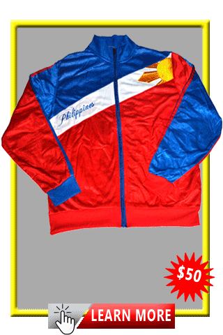 Philippine Jacket With Sun & Stars and Map