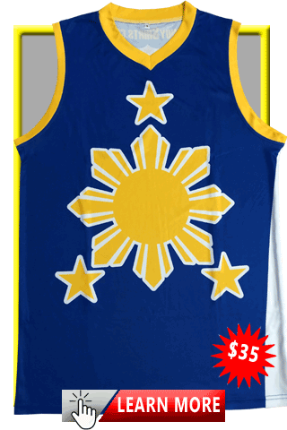 Blue & Gold Sun and Stars Jersey